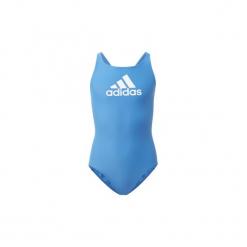 Kostium kąpielowy jednoczęściowy Dziecko adidas  Strój do pływania Badge of Sport. Niebieskie stroje jednoczęściowe dziewczęce Adidas. Za 79,95 zł.