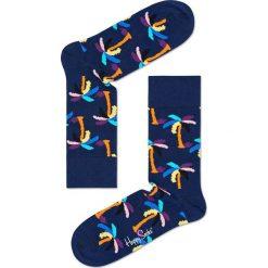 Happy Socks - Skarpety Palm. Niebieskie skarpetki męskie Happy Socks, z bawełny. W wyprzedaży za 27,90 zł.