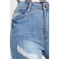 Rurki damskie: Missguided SINNER HIGH WAISTED AUTHENTIC RIPPED Jeans Skinny Fit blue