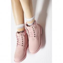 Różowe Traperki Untoward. Czerwone buty zimowe damskie Born2be, na obcasie. Za 79,99 zł.