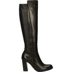 Kozaki - 7143 308 NERO. Czarne buty zimowe damskie Venezia, ze skóry. Za 399,00 zł.