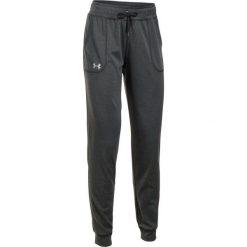 Under Armour Spodnie Dresowe Tech Pant Solid Carbon Heather Metallic Silver S. Brązowe spodnie sportowe damskie marki Under Armour, s, z dresówki. W wyprzedaży za 139,00 zł.