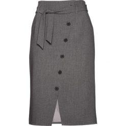 Spódniczki: Spódnica ołówkowa z wiązanym paskiem bonprix szary melanż