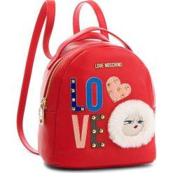 Plecak LOVE MOSCHINO - JC4273PP06KJ0500 Rosso. Czerwone plecaki damskie Love Moschino, ze skóry ekologicznej, eleganckie. W wyprzedaży za 499,00 zł.