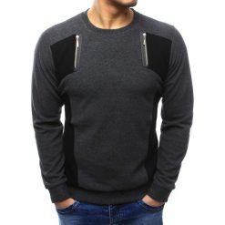 Swetry męskie: Sweter męski antracytowy (wx1028)