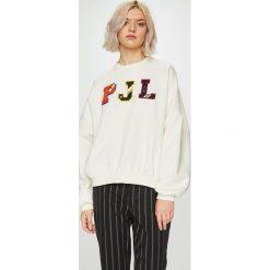 Pepe Jeans - Bluza Siena. Szare bluzy rozpinane damskie Pepe Jeans, l, z aplikacjami, z bawełny, bez kaptura. W wyprzedaży za 219,90 zł.