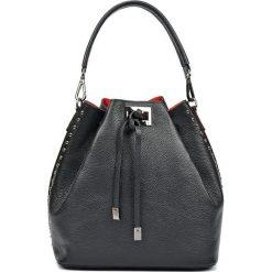 Torebki klasyczne damskie: Skórzana torebka w kolorze czarnym – 30 x 42 x 16 cm