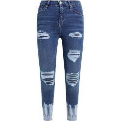 Topshop TIE DYE JAMIE RIP Jeans Skinny Fit blue. Niebieskie rurki damskie Topshop. W wyprzedaży za 134,50 zł.