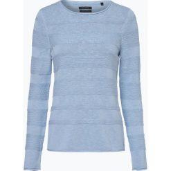 Swetry klasyczne damskie: Marc O'Polo – Sweter damski z dodatkiem lnu, niebieski