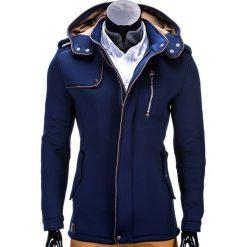 Płaszcze męskie: PŁASZCZ MĘSKI C200 - GRANATOWY