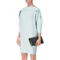 Sukienka w kolorze miętowym. Niebieskie sukienki mini marki BOHOBOCO, z dekoltem na plecach, proste. W wyprzedaży za 909,95 zł.