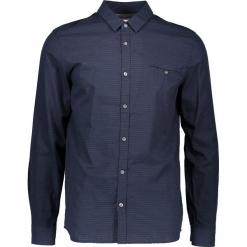 Koszula - Slim fit - w kolorze granatowym. Niebieskie koszule męskie na spinki Mustang, m, w paski, z bawełny, z klasycznym kołnierzykiem. W wyprzedaży za 99,95 zł.