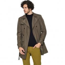 Płaszcz w kolorze khaki. Brązowe płaszcze na zamek męskie AVVA, Dewberry, l, w paski, z tkaniny. Za 489,95 zł.