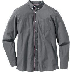 Koszula z długim rękawem Regular Fit bonprix dymny szary. Szare koszule męskie na spinki bonprix, l, z kontrastowym kołnierzykiem, z długim rękawem. Za 37,99 zł.