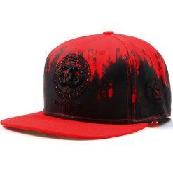 Czapka męska snapback czerwona (hx0201). Czerwone czapki z daszkiem męskie marki Dstreet, z haftami, eleganckie. Za 69,99 zł.