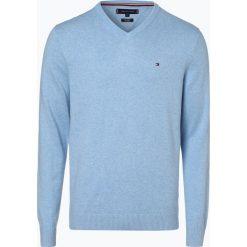 Tommy Hilfiger - Sweter męski z dodatkiem kaszmiru, niebieski. Niebieskie swetry klasyczne męskie TOMMY HILFIGER, m, z dzianiny. Za 449,95 zł.