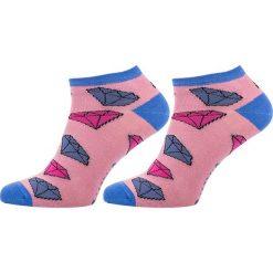 STOPKI DAMSKIE DIAMENTY FFSDIABLF. Niebieskie skarpetki damskie marki Freak Feet, w kolorowe wzory, z bawełny. Za 11,24 zł.