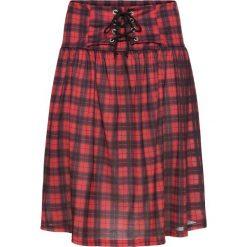 Spódnica w kratę bonprix czerwono-czarny w kratę. Czerwone spódniczki bonprix. Za 44,99 zł.