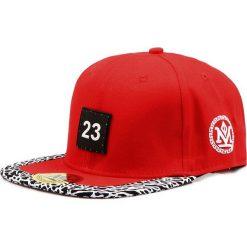 Czapka męska snapback czerwona (hx0284). Czerwone czapki z daszkiem męskie Dstreet, z aplikacjami, eleganckie. Za 69,99 zł.