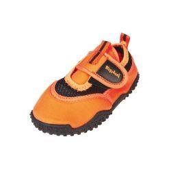 Playshoes  Buty do wody neon pomarańczowy - Gr.Moda (6 - 24 miesięcy ). Brązowe buciki niemowlęce Playshoes, z materiału. Za 59,00 zł.