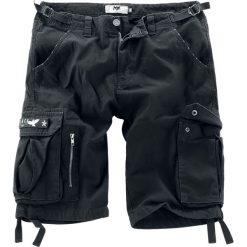 Bermudy męskie: Black Premium by EMP Army Vintage Shorts Krótkie spodenki Vintage czarny