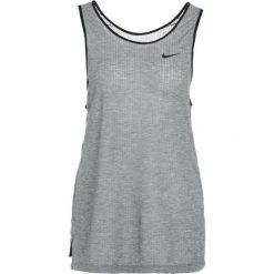 Nike Performance TANK ASYMMETRIC Koszulka sportowa black/heather/black. Czarne topy sportowe damskie marki Nike Performance, xs, z lyocellu. W wyprzedaży za 143,10 zł.