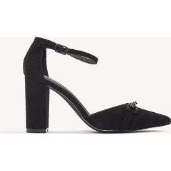 Czółenka: NA-KD Shoes Czółenka na średnim obcasie Horse Bite – Black