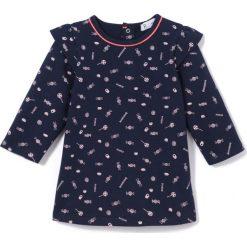 Sukienka z moltonu, 1 mies. - 3 lata. Niebieskie sukienki dziewczęce La Redoute Collections, z bawełny, z długim rękawem, długie, maxi. Za 58,76 zł.