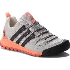 Buty adidas - Terrex Solo W CM7656 Gretwo/Carbon/Chacor. Czarne buty trekkingowe damskie marki Adidas, z kauczuku. W wyprzedaży za 379,00 zł.