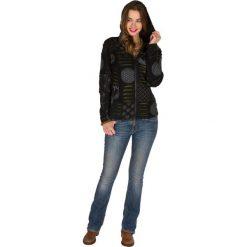 Bluzy rozpinane damskie: Bluza w kolorze czarno-szaro-oliwkowym