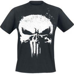 T-shirty męskie: The Punisher Sprayed Skull Logo T-Shirt czarny