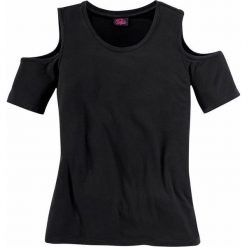Buffalo Girl Koszulka  czarny. Czarne t-shirty dziewczęce Buffalo Girl, w jednolite wzory, z dżerseju, z okrągłym kołnierzem. Za 71,40 zł.