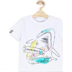 Koszulka. Białe t-shirty chłopięce z krótkim rękawem marki COCCODRILLO, m, z bawełny, z okrągłym kołnierzem. Za 32,90 zł.