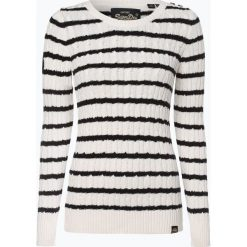 Superdry - Sweter damski, beżowy. Brązowe swetry klasyczne damskie Superdry, m. Za 299,95 zł.