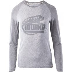 Bluzki asymetryczne: IGUANA Koszulka damska Themba light grey melange/grey melange r. XS