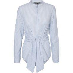 Bluzki asymetryczne: Gładka bluzka z rozcięciem, długi rękaw