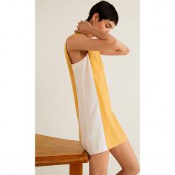 Mango - Sukienka Tikas. Szare sukienki mini marki Mango, na co dzień, l, z tkaniny, casualowe, z dekoltem halter, na ramiączkach, rozkloszowane. Za 139,90 zł.
