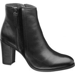 Botki damskie lity: botki damskie 5th Avenue czarne