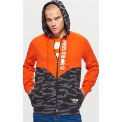 Zapinana bluza z kapturem kolekcja PROGRESS - Pomarańczowy. Brązowe bluzy męskie rozpinane marki Cropp, l, z kapturem. Za 139,99 zł.
