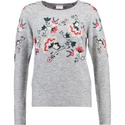 Swetry damskie: Vila VIESTONI Sweter light grey melange