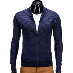 Bluzy męskie: BLUZA MĘSKA ROZPINANA BEZ KAPTURA B551 - GRANATOWA