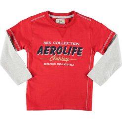 T-shirty chłopięce z długim rękawem: Koszulka w kolorze czerwono-szarym