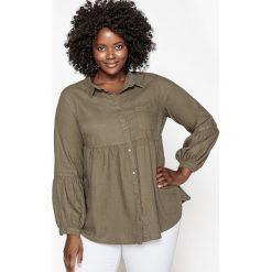 Koszule body: Gładka koszula z lnu