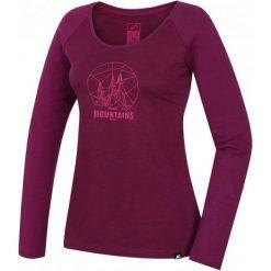 Hannah Koszulka Z Długim Rękawem Emily Amaranth Mel/Amaranth 36. Czerwone bluzki sportowe damskie Hannah, z bawełny, z klasycznym kołnierzykiem, z długim rękawem. W wyprzedaży za 79,00 zł.
