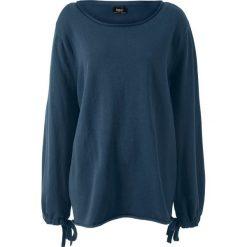 Swetry klasyczne damskie: Sweter dzianinowy bonprix ciemnoniebieski