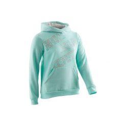Bluza 500 Gym. Zielone bluzy dziewczęce rozpinane DOMYOS, z kapturem. Za 39,99 zł.