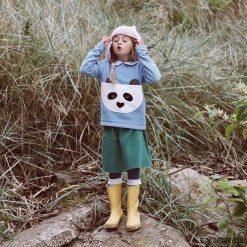 Bluza Panda Wanda. Szare bluzy dziewczęce rozpinane marki Pakamera, z bawełny. Za 159,00 zł.