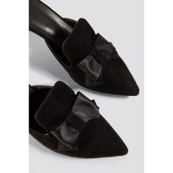Buty ślubne damskie: Trendyol Czółenka z kokardą - Black