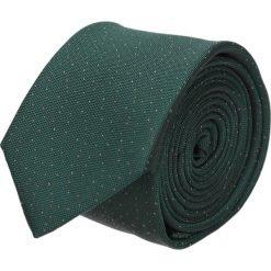 Krawat platinum zielony classic 201. Zielone krawaty męskie Recman, w kropki, z tkaniny, eleganckie. Za 49,00 zł.