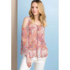 Bluzki asymetryczne: Kolorowa bluzka w stylu boho